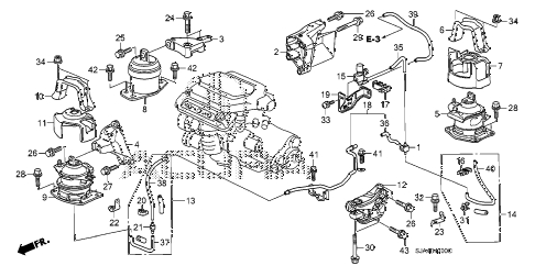 2009 RL 4 DOOR 5AT ENGINE MOUNTS (1) diagram