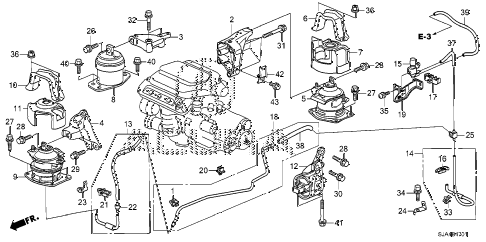 2012 RL-TEC 4 DOOR 6AT ENGINE MOUNTS (2) diagram