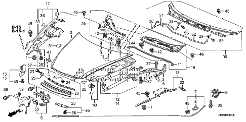 2006 RL 4 DOOR 5AT ENGINE HOOD (1) diagram