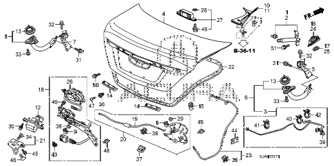 2010 RL 4 DOOR 5AT TRUNK LID (2) diagram