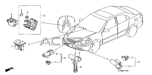 2012 RL-H 4 DOOR 6AT A/C SENSOR diagram