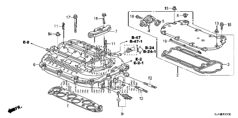 2011 RL-ADV 4 DOOR 6AT INTAKE MANIFOLD diagram