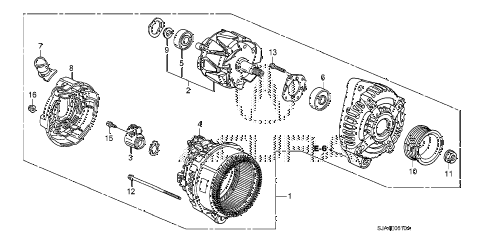 2008 RL 4 DOOR 5AT ALTERNATOR (DENSO) diagram