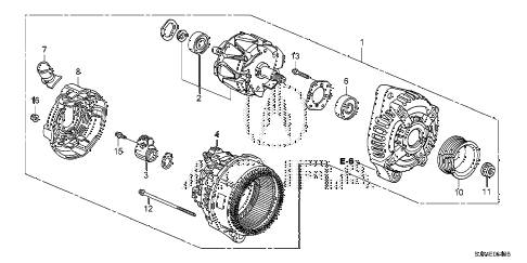 2011 RL-ADV 4 DOOR 6AT ALTERNATOR (DENSO) diagram