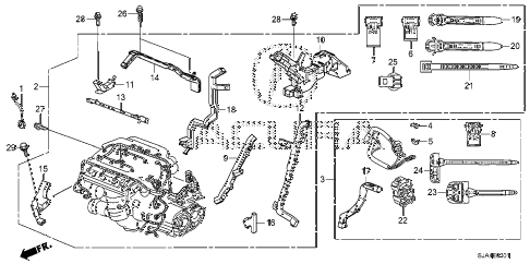 2012 RL-TEC 4 DOOR 6AT ENGINE WIRE HARNESS (2) diagram