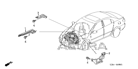 2010 RL 4 DOOR 5AT ENGINE WIRE HARNESS STAY diagram