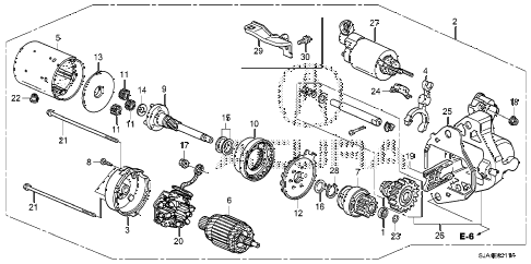 2012 RL-TEC 4 DOOR 6AT STARTER MOTOR (DENSO) (2) diagram