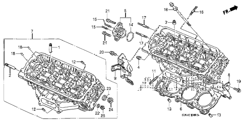 2008 RL 4 DOOR 5AT REAR CYLINDER HEAD (1) diagram