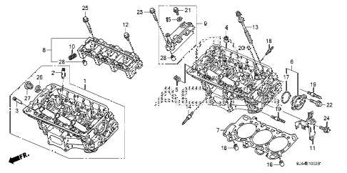 2010 RL 4 DOOR 5AT FRONT CYLINDER HEAD (2) diagram