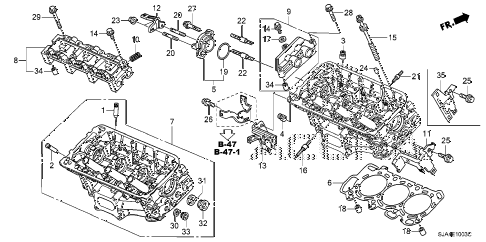 2011 RL-ADV 4 DOOR 6AT REAR CYLINDER HEAD (2) diagram