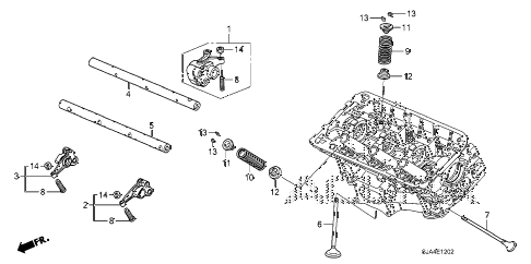 2010 RL-TEC 4 DOOR 5AT VALVE - ROCKER ARM (FR.) (2) diagram