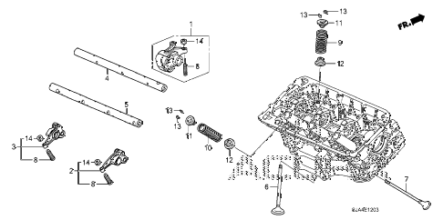 2010 RL 4 DOOR 5AT VALVE - ROCKER ARM (RR.) (2) diagram
