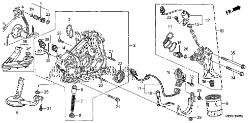 2008 RL-TEC 4 DOOR 5AT OIL PUMP diagram