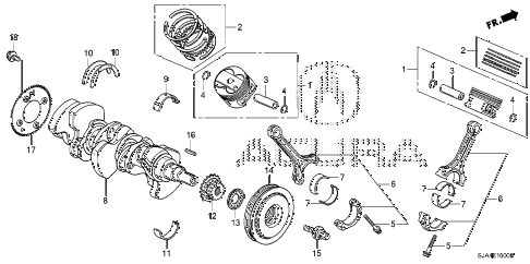 2012 RL-H 4 DOOR 6AT CRANKSHAFT - PISTON diagram