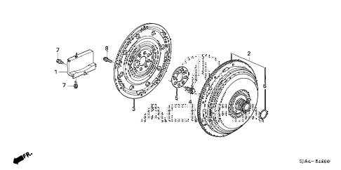 2010 RL-TEC 4 DOOR 5AT TORQUE CONVERTER diagram