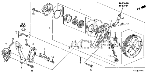 2012 RL-TEC 4 DOOR 6AT P.S. PUMP - BRACKET diagram
