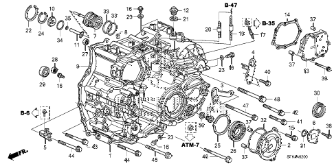 2009 RDX 5 DOOR 5AT AT TRANSMISSION CASE diagram