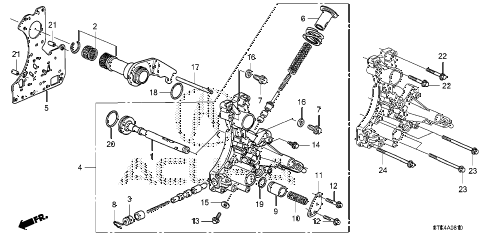2009 RDX TECH 5 DOOR 5AT AT REGULATOR BODY diagram