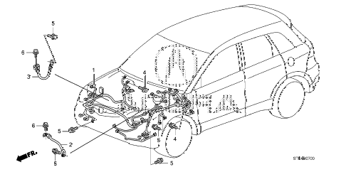 2007 RDX TECH 5 DOOR 5AT WIRE HARNESS (1) diagram