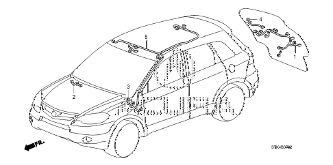 2011 RDX TECH 5 DOOR 5AT WIRE HARNESS (3) diagram