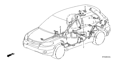 2009 RDX(TECH) 5 DOOR 5AT WIRE HARNESS (4) diagram