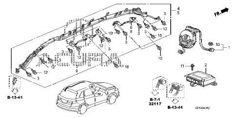 2011 RDX(SH-AWD) 5 DOOR 5AT SRS UNIT (1) diagram