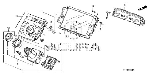 2007 RDX TECH 5 DOOR 5AT SWITCH PANEL (NAVIGATION) diagram