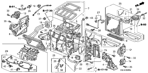2011 RDX BASE 5 DOOR 5AT HEATER UNIT diagram