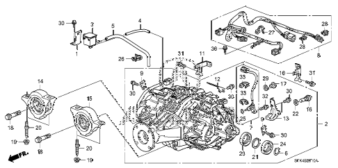 2009 RDX 5 DOOR 5AT REAR DIFFERENTIAL - MOUNT diagram