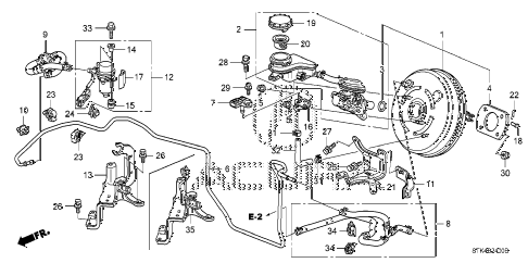 2009 RDX TECH 5 DOOR 5AT BRAKE MASTER CYLINDER  - MASTER POWER (KA) (KC) diagram