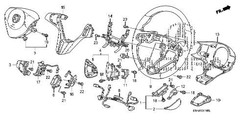 2008 RDX(TECH) 5 DOOR 5AT STEERING WHEEL (SRS) diagram