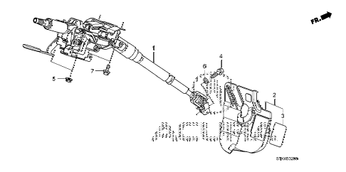 2008 RDX(TECH) 5 DOOR 5AT STEERING COLUMN diagram