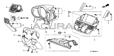 2009 RDX(TECH) 5 DOOR 5AT INSTRUMENT PANEL GARNISH (DRIVER SIDE) diagram