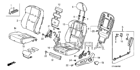 2009 RDX TECH 5 DOOR 5AT FRONT SEAT (L.) (2) diagram