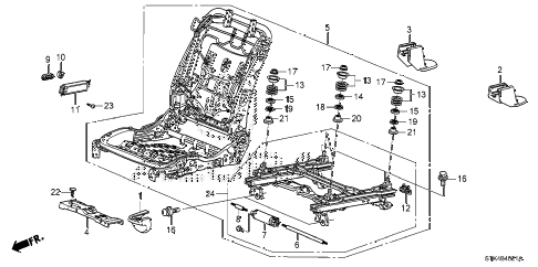 2010 RDX 5 DOOR 5AT FRONT SEAT COMPONENTS (R.) (2) diagram