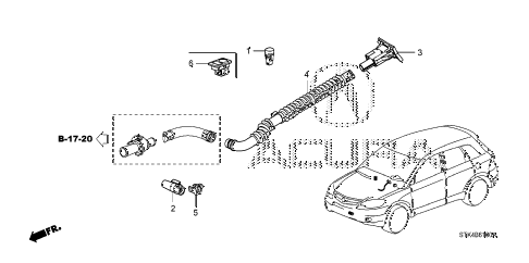 2010 RDX(TECH) 5 DOOR 5AT A/C SENSOR diagram