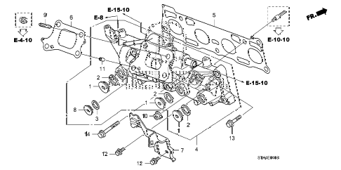 2009 RDX(TECH) 5 DOOR 5AT EXHAUST MANIFOLD diagram