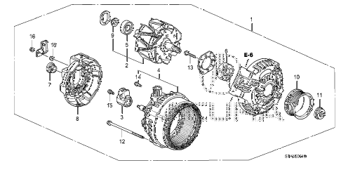 2010 RDX 5 DOOR 5AT ALTERNATOR (DENSO) diagram