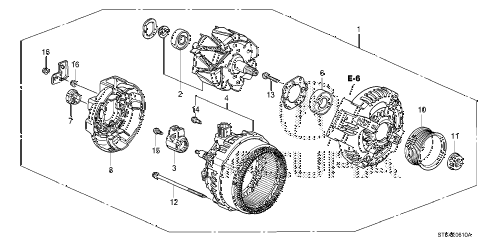 2011 RDX(SH-AWD) 5 DOOR 5AT ALTERNATOR (DENSO) diagram