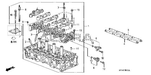 2010 RDX(TECH) 5 DOOR 5AT CYLINDER HEAD diagram