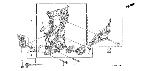 2009 RDX 5 DOOR 5AT CHAIN CASE diagram