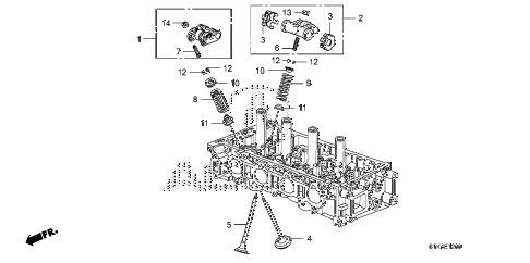 2010 RDX 5 DOOR 5AT VALVE - ROCKER ARM diagram