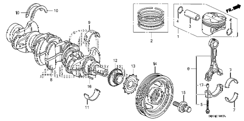 2011 RDX TECH 5 DOOR 5AT CRANKSHAFT - PISTON diagram