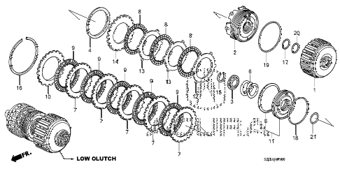 2009 MDX 5 DOOR 5AT AT CLUTCH (LOW) diagram