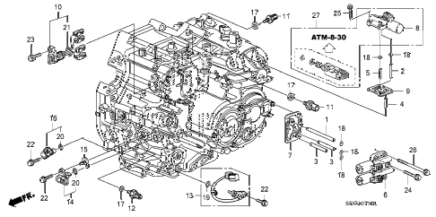 2007 MDX TECH 5 DOOR 5AT AT SENSOR - SOLENOID diagram