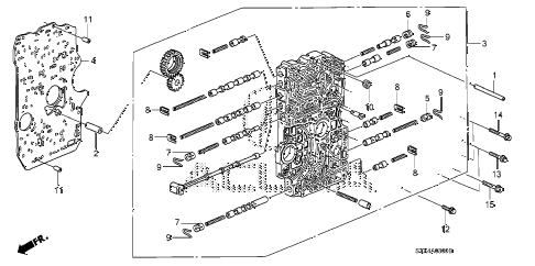 2007 MDX SPORT 5 DOOR 5AT AT MAIN VALVE BODY diagram