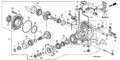 2009 MDX 5 DOOR 5AT AT TRANSFER diagram