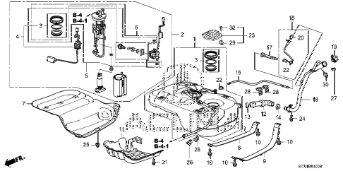 2009 MDX 5 DOOR 5AT FUEL TANK (KA/KC) diagram