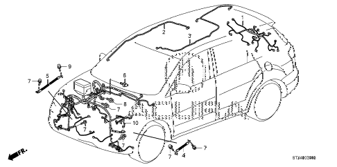 2007 MDX TECH 5 DOOR 5AT WIRE HARNESS (1) diagram