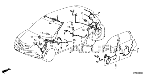 2008 MDX SPORT 5 DOOR 5AT WIRE HARNESS (3) diagram